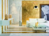 Золотой цвет стен — блеск в интерьере (70 фото идей)
