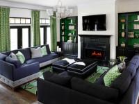 Зеленый цвет стен — идеальное решение современного интерьере (50 фото)