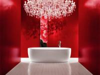 Красная ванная комната — 90 фото лучших цветовых решений