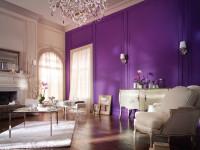 Стены фиолетового цвета — 50 фото необычного сочетания дизайна