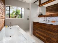 Отделка стен в ванной — варианты оформления на 70 фото