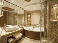 Ванная в золотом цвете — стильный и роскошный дизайн (50 фото идей)