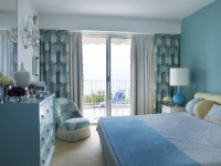 Бирюзовая спальня — особенности бирюзы в интерьере и тонкости оформления на фото!