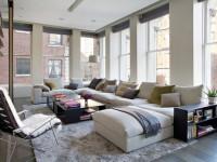 Гостиная в стиле лофт — разнообразие дизайнерских решений в стиле лофт на фото интерьеров!