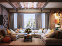 Мягкая мебель для гостиной — шикарный вариант меблировки для максимального комфорта +120 фото