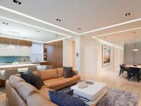 Натяжные потолки в гостиной: ТОП -100 фото оригинальных решений и современного дизайна потолка в гостиной