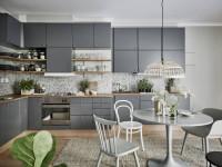 Серая кухня — 75 фото лучших вариантов сочетания в интерьере