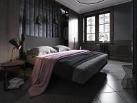 Черная спальня — незабываемые варианты интерьеров в любых оттенках черного!