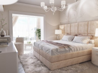 Спальня в светлых тонах — изящное оформление для современного интерьера (130 фото)