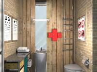 Унитаз в маленьком туалете