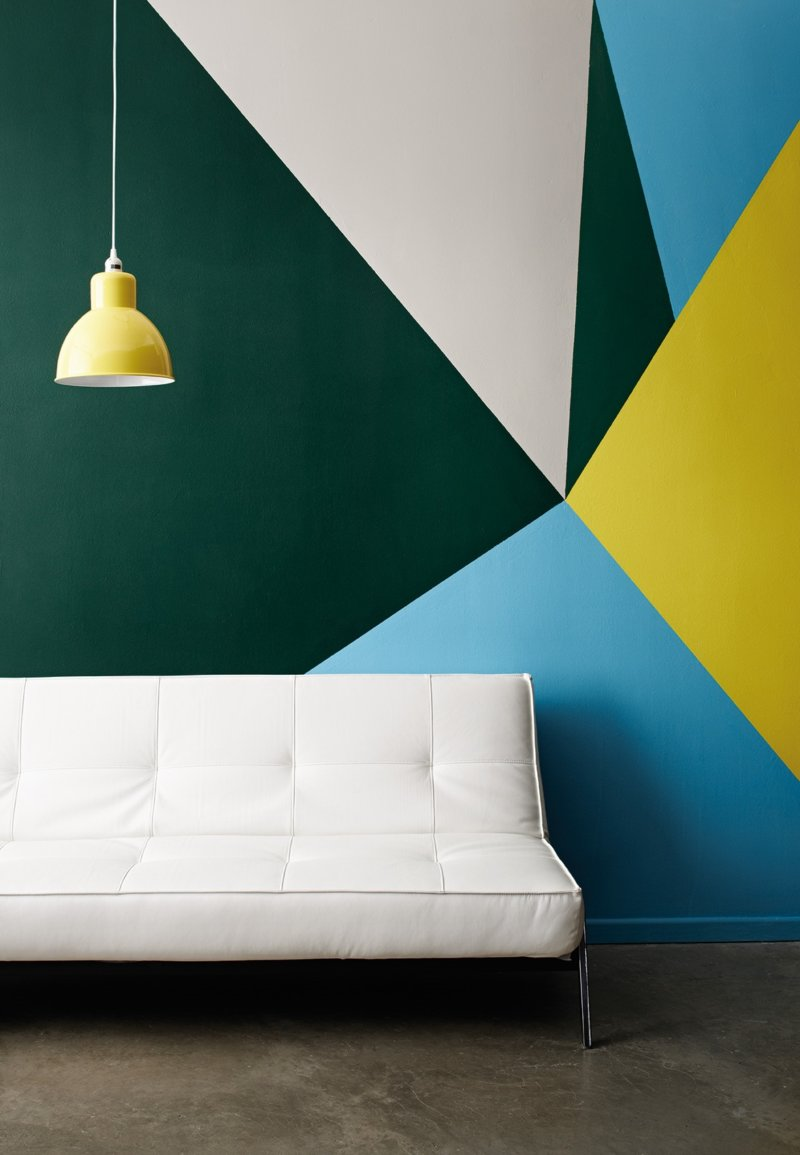 Декор стен краской своими руками фото 117