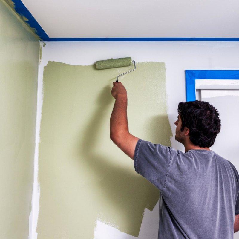 Покраска стен - 80 фото примеров современного оформления
