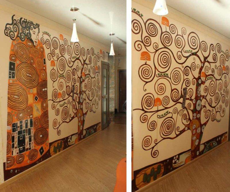Стены с рисунками своими руками 814