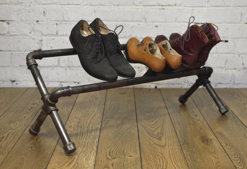 Обувная полка из пластиковых труб своими руками фото 26