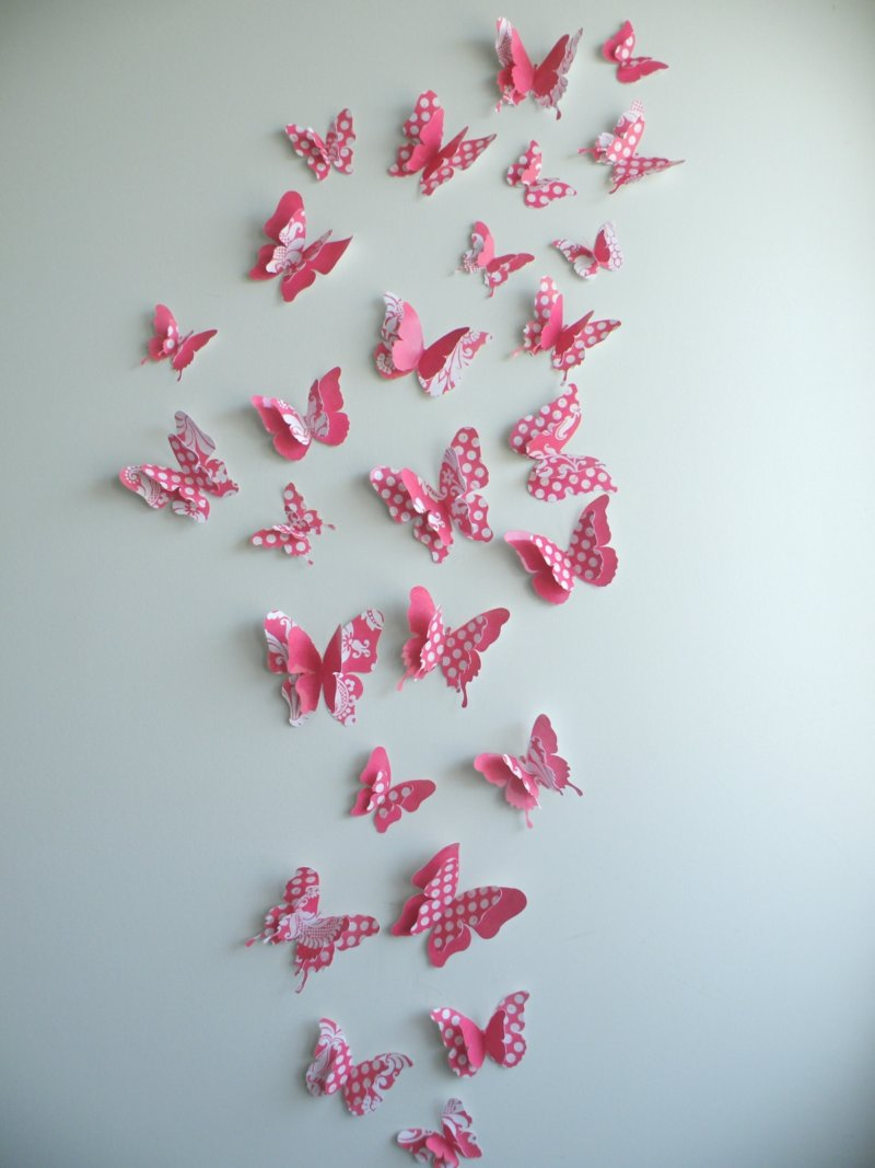 Украшаем стены своими руками из бумаги бабочки фото 825