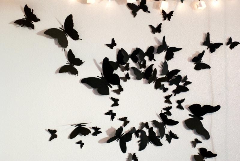 3d бабочки на стену своими руками 1057