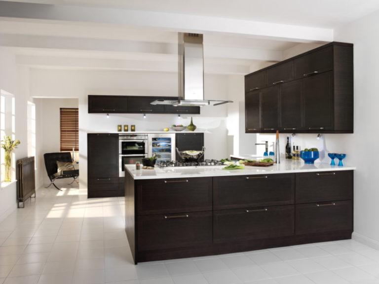 Кухня венге в интерьере фото