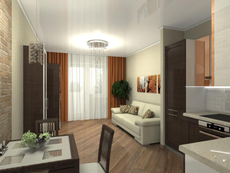 Дизайн кухни 21 кв.м с одним окном