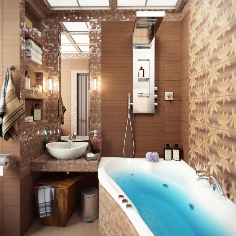 Интерьеры ванных комнат фото в квартире 7 квадратных метров