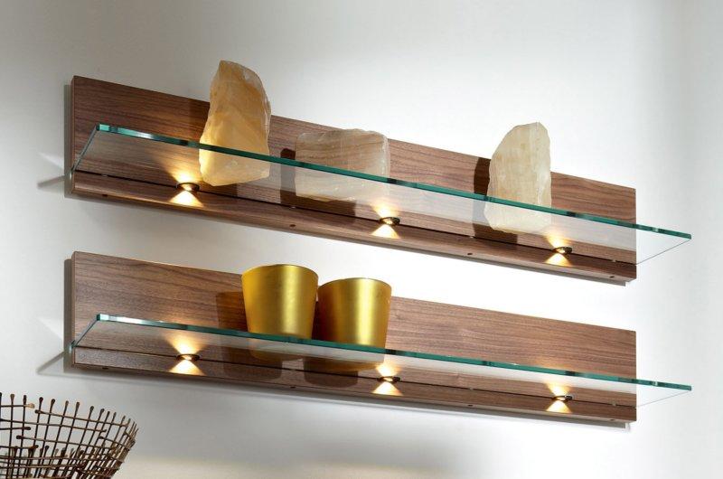 Подсветка для стеклянных полок своими руками 572