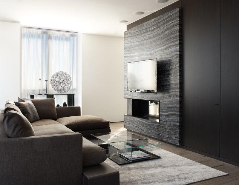 Стена с телевизором: идеи оформления