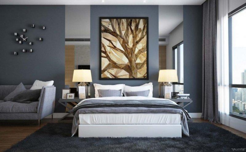 дизайн спальни в бежевых тонах