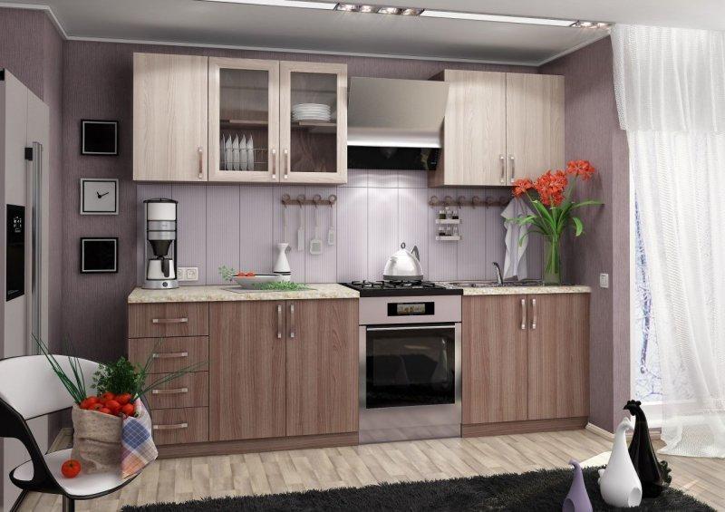 угловые кухни эконом класса модули