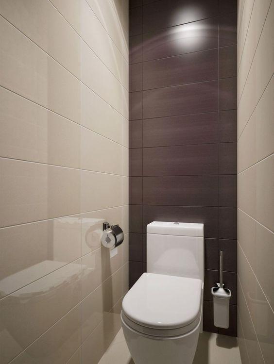 отделка стен маленького туалета