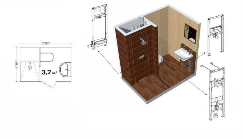 планировка малогабаритной ванной фото