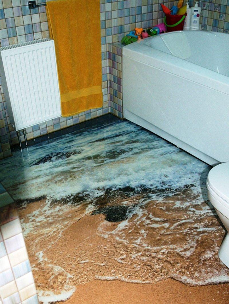 маленький туалет наливной пол фото