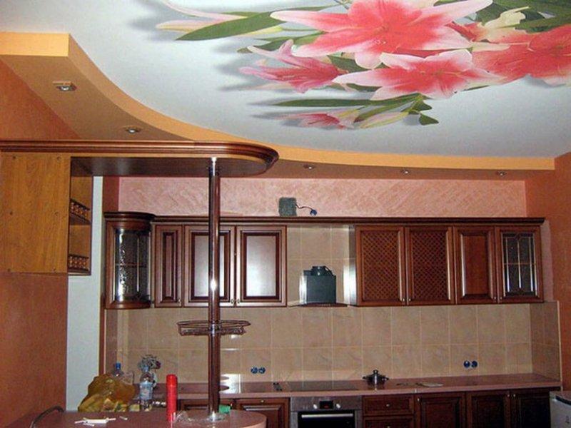 Лучшие идеи отделки потолка на кухне.