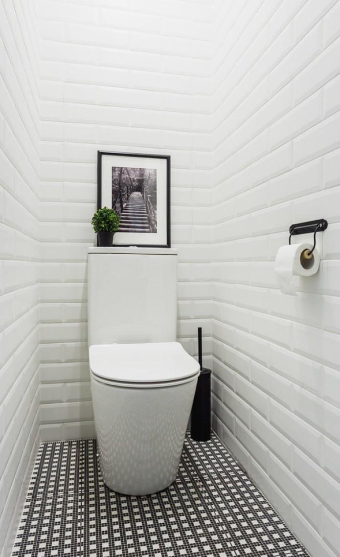 белый маленький туалет фото