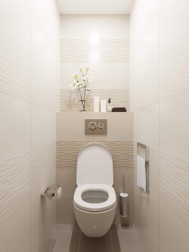 стильный дизайн маленького туалета фото