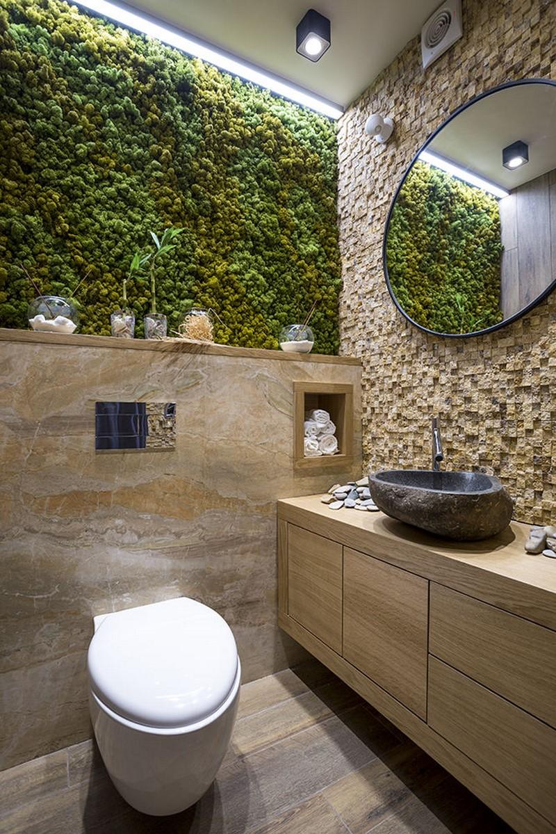 экостиль маленький туалет фото