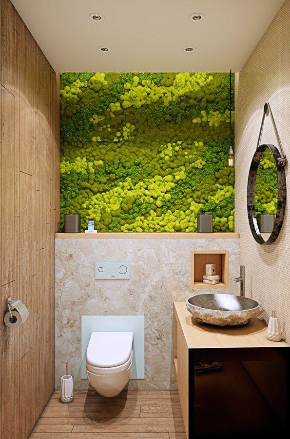 маленький туалет в экостиле фото