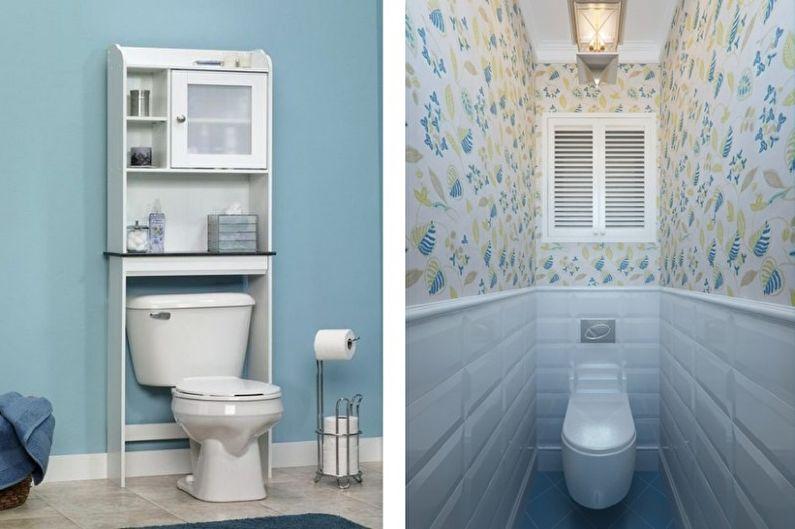 голубой маленький туалет фото