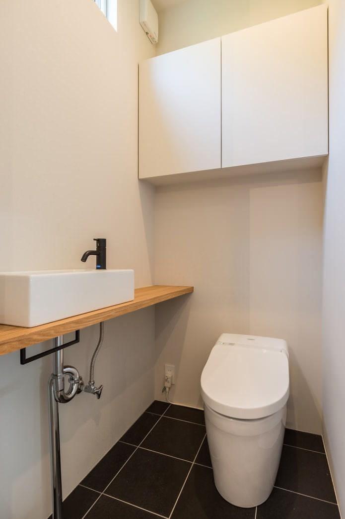 интерьер маленького туалета фото