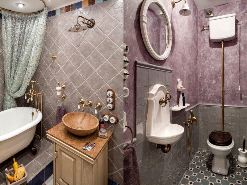 маленький туалет в классическом стиле фото