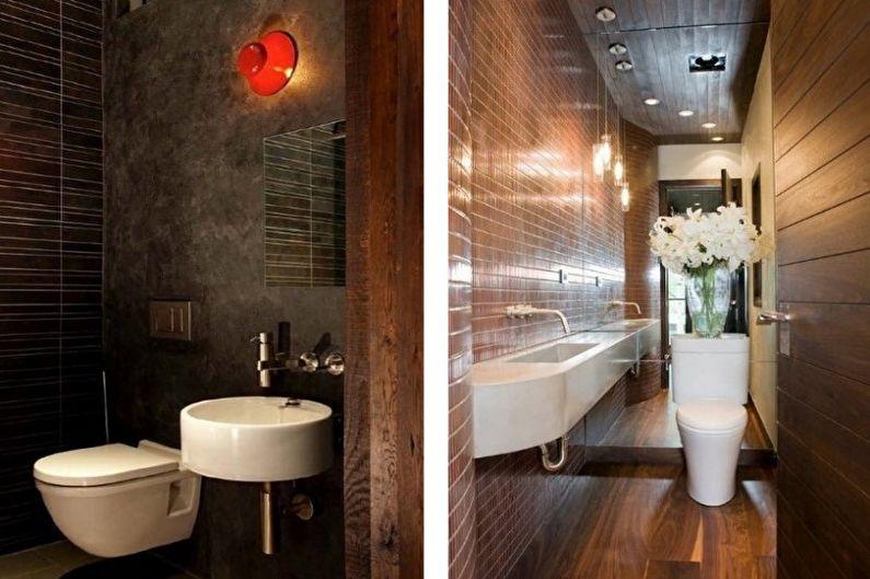 коричневый маленький туалет фото