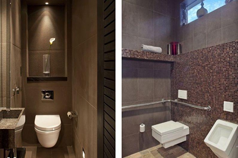 коричневый туалет малогабаритный фото