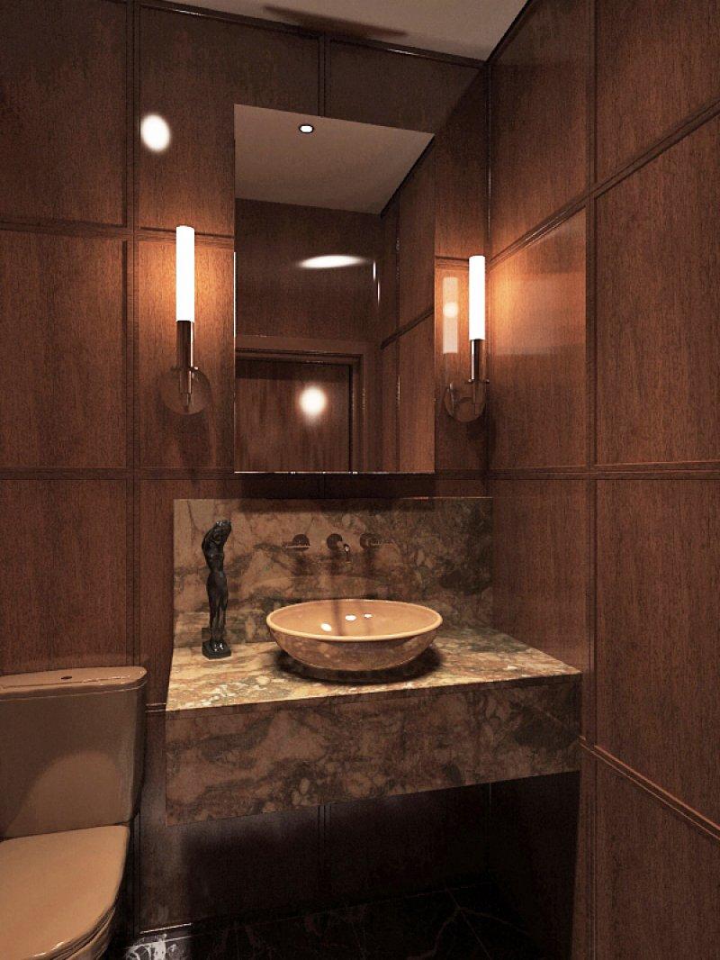 фото коричневого маленького туалета
