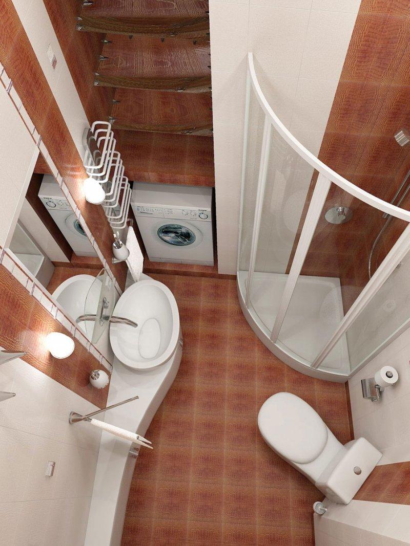маленький туалет коричневый фото
