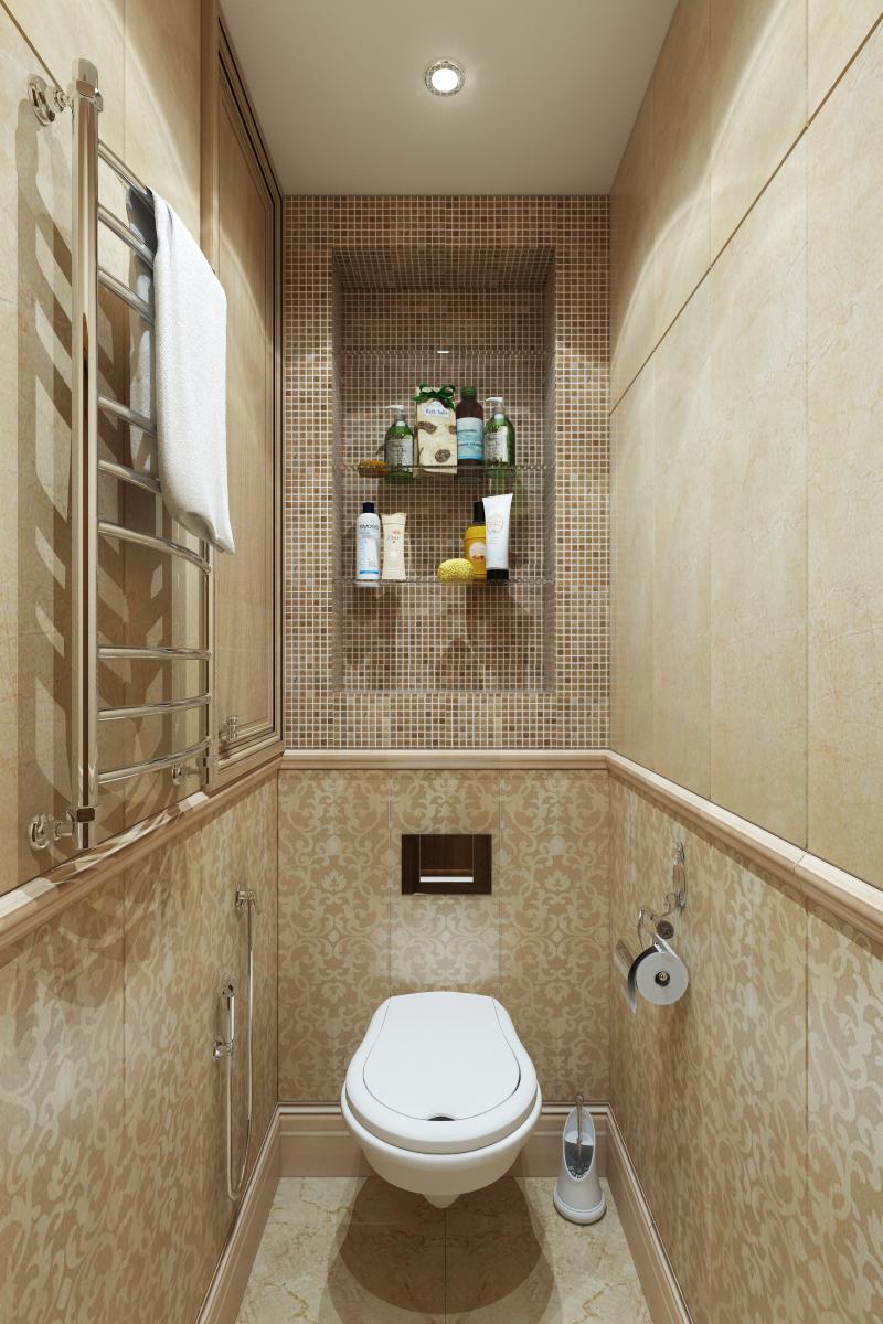 коричневый маленький туалет фото идеи