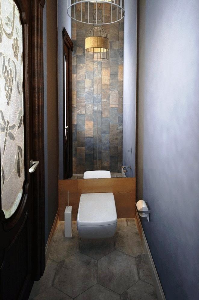 лофт стиль маленький туалет