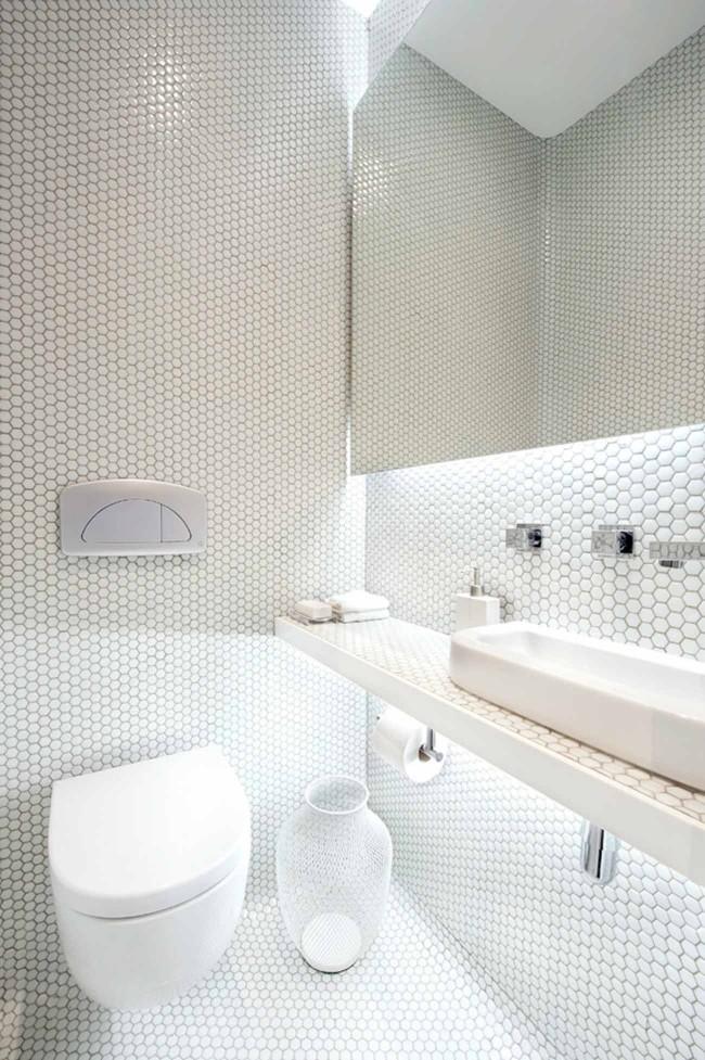 стиль минимализм маленький туалет фото