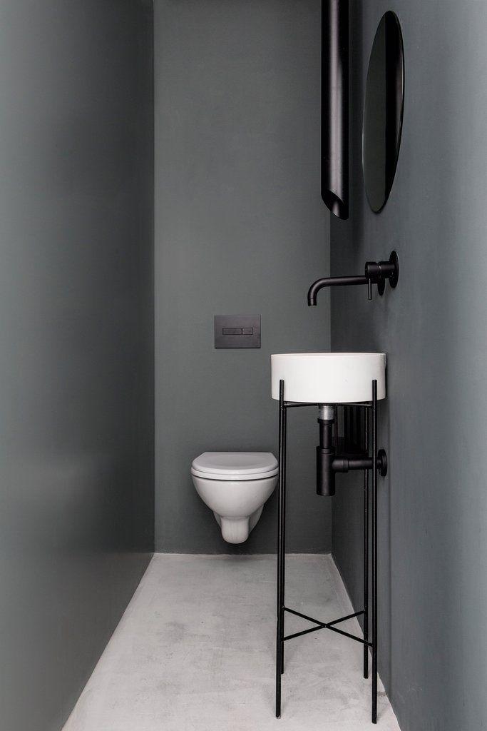 дизайн минимализм маленький туалет