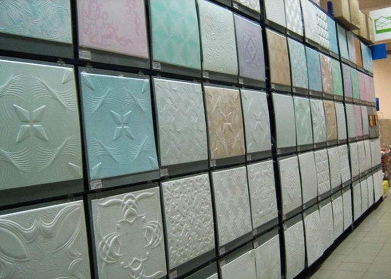 Потолки на кухне пенопластовыми плитками