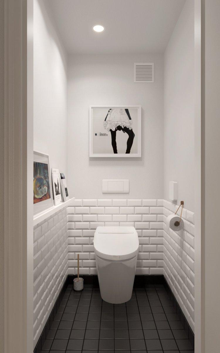 маленький туалет пол плитка фото