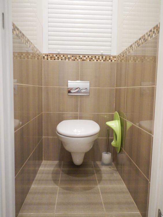 маленький туалет отделка плиткой