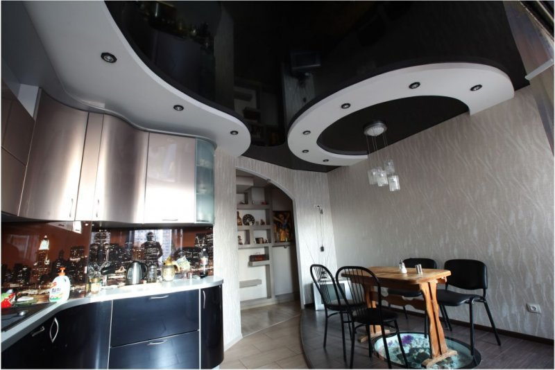 Потолки на кухне своими руками